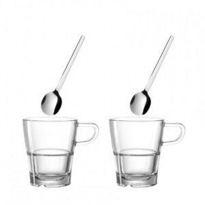 Leonardo Senso kávés-teás csésze szett kanállal 4részes