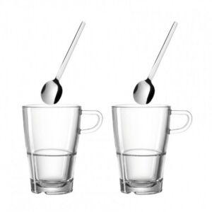 Leonardo Senso latte macchiatós bögre szett kanállal 4részes