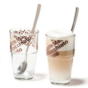 Leonardo Solo pohár szett kanállal 4részes cafe lattés