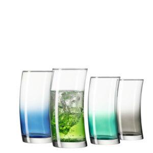 Leonardo Swing pohár készlet 4részes üdítős vegyes színkombináció