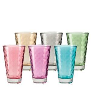 Leonardo Optic pohár készlet 6részes üdítős vegyes színkombináció