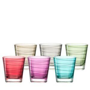 Leonardo Vario pohár készlet 6részes üdítős vegyes színkombináció