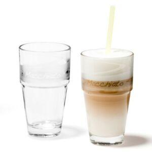 Leonardo Solo pohár szett 2részes latte macchiatós, szatin