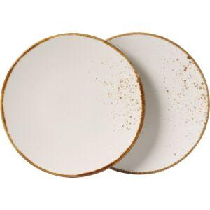 vivo Stone Ware White desszertes-reggelizőtányér szett 2részes