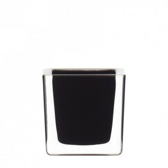 Leonardo Cube mécsestartó 8x8x8cm fekete