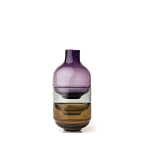 Leonardo Fusione váza-dekortál kombináció 3részes 38cm lila
