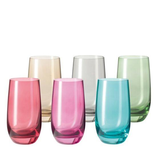 Leonardo Sora pohár készlet 6részes whiskys vegyes színkombináció