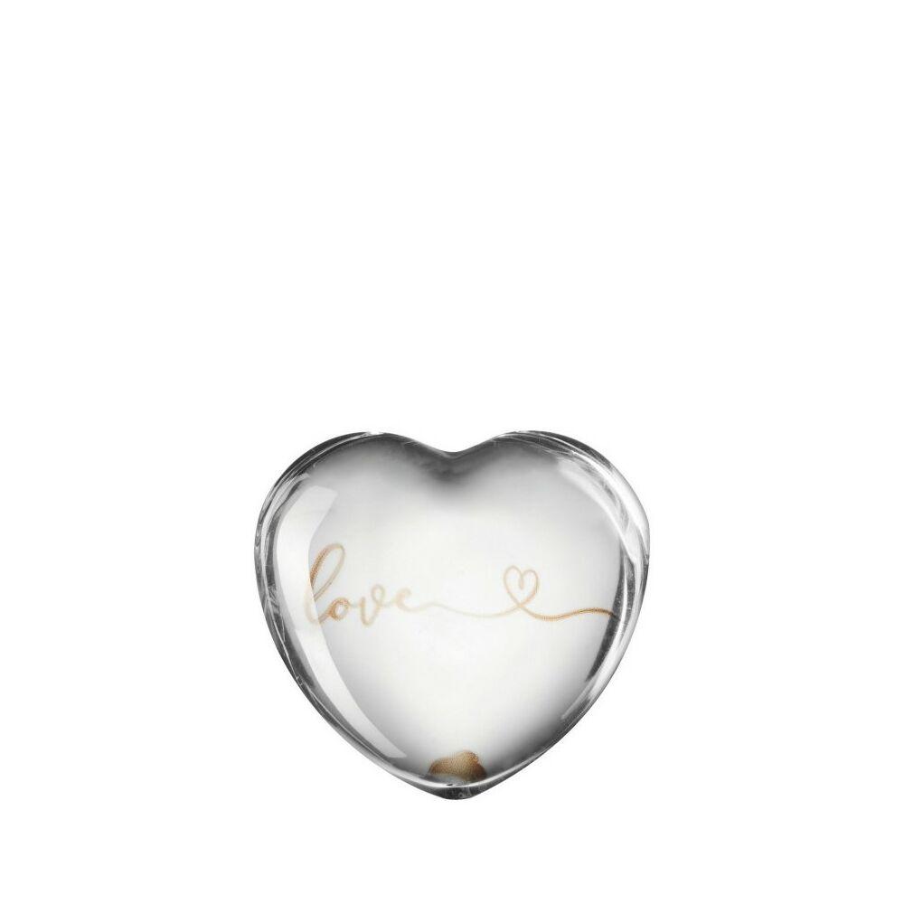 Leonardo Emozione szobor 7cm szív alakú Love