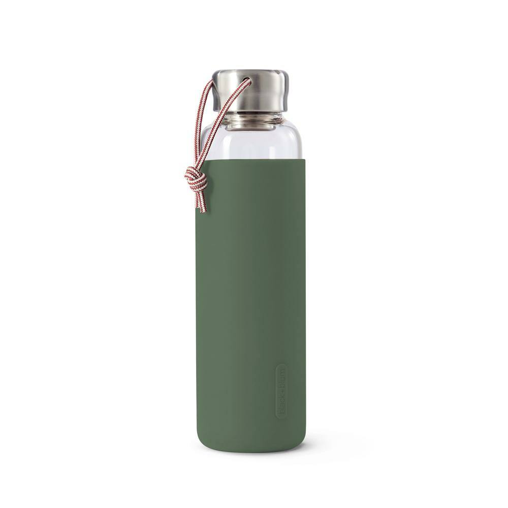 BB Glass Water Bottle vizes palack 0,60l olivzazöld