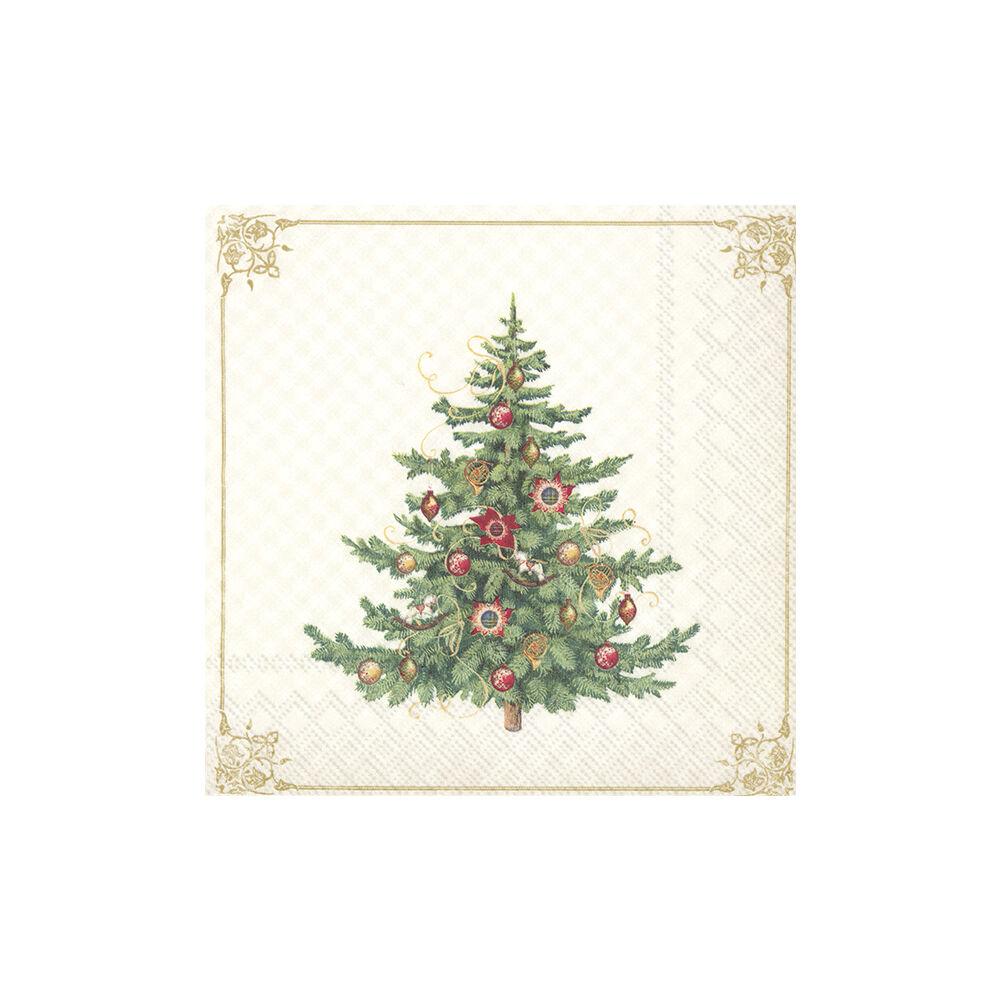 IHR papírszalvéta csomag 33x33cm Nostalgic Christmas Tree