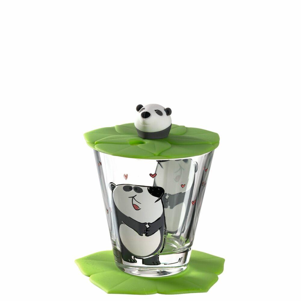 Leonardo Bambini pohár fedővel és alátéttel, Panda