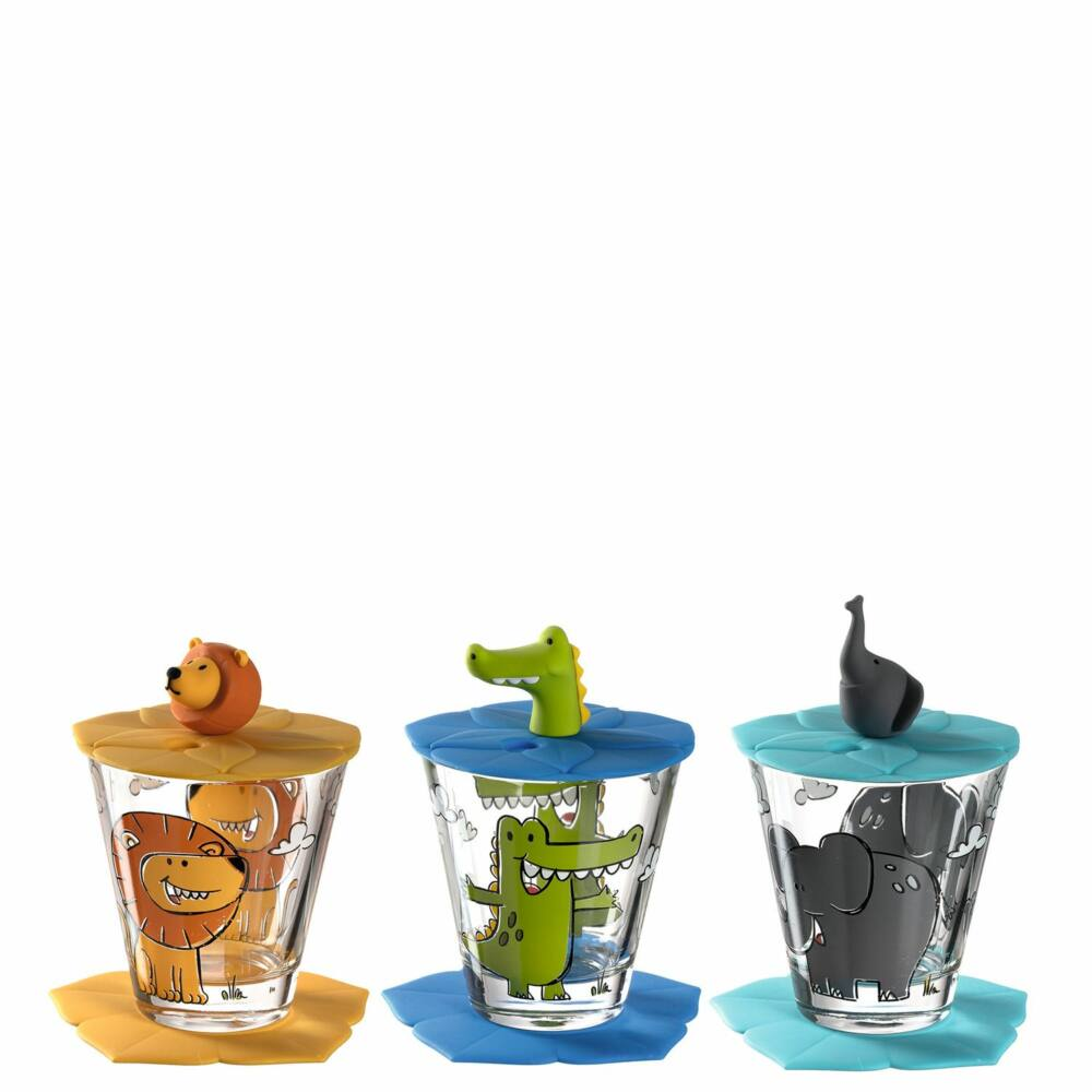 Leonardo Bambini pohár szett 9részes, Oroszlán, Krokodil, Elefánt