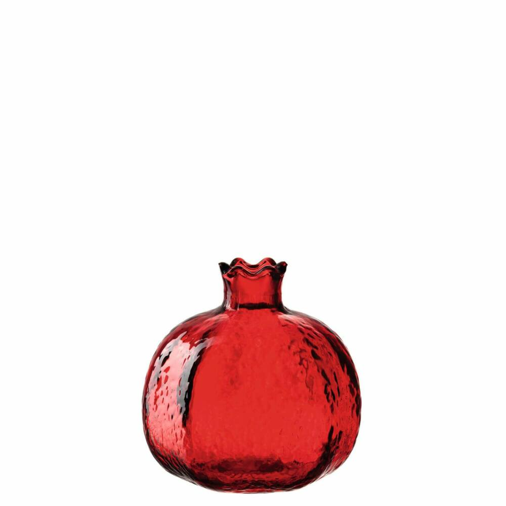Leonardo Decora gránátalma alakú váza 9cm, piros
