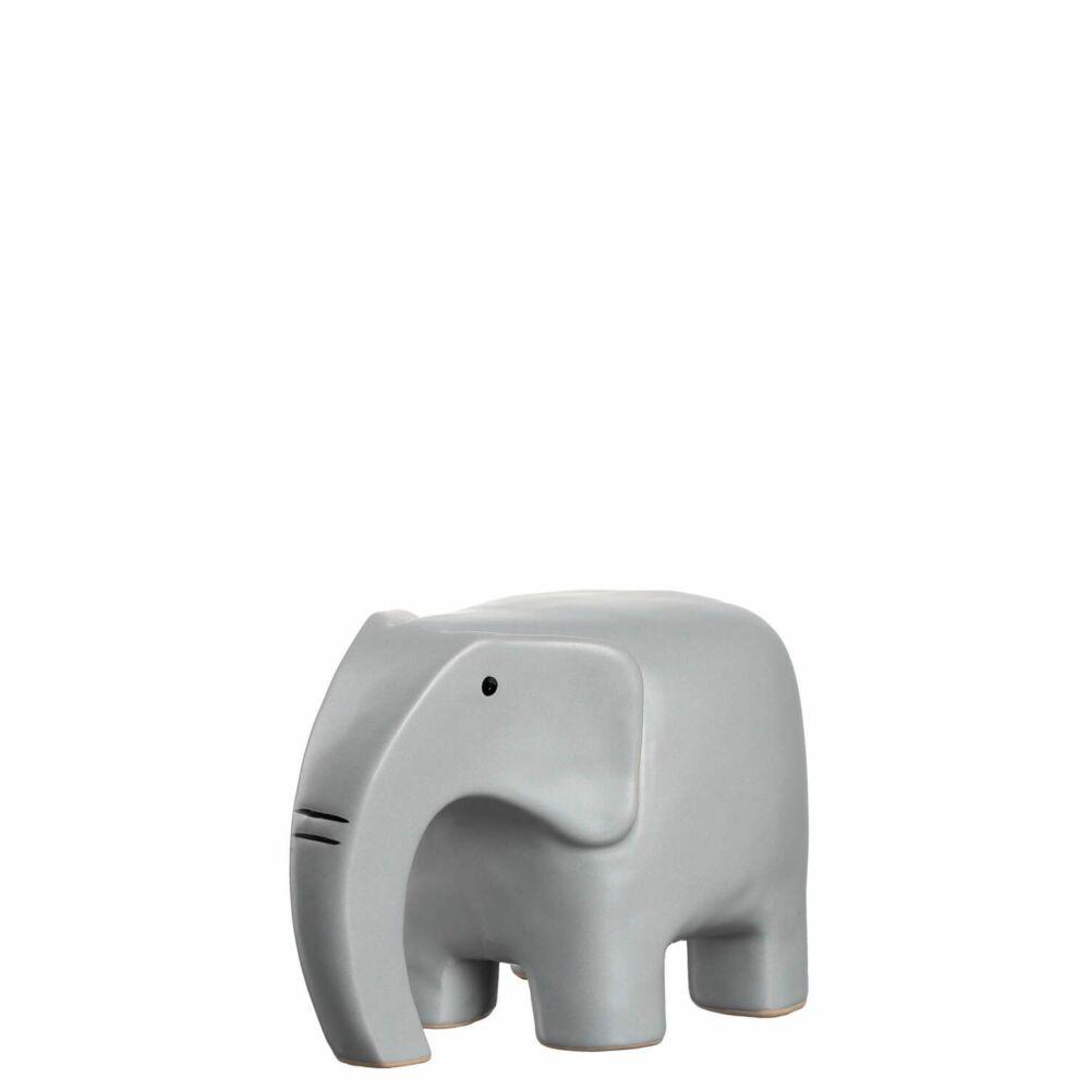 Leonardo Posto elefánt 9cm, szürke