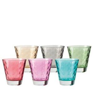 Leonardo Optic pohár készlet 6részes whiskys vegyes színkombináció