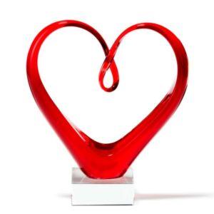 Leonardo Heart szobor 24cm szív alakú piros