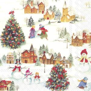 IHR papírszalvéta csomag 33x33cm HAPPY CHRISTMAS TIME