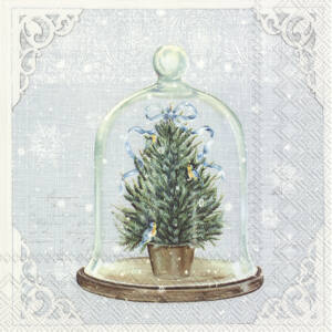 IHR papírszalvéta csomag 33x33cm BELL JAR kék