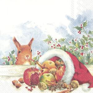 IHR papírszalvéta csomag 33x33cm CHRISTMAS FRUITS FROM SANTA