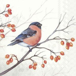 IHR papírszalvéta csomag 33x33cm DREAMING WINTER BIRD
