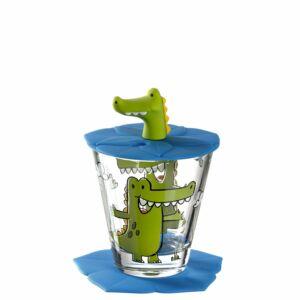 Leonardo Bambini pohár fedővel és alátéttel, Krokodil