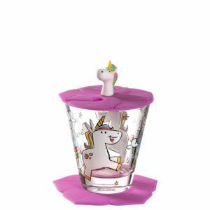 Leonardo Bambini pohár fedővel és alátéttel, Unikornis