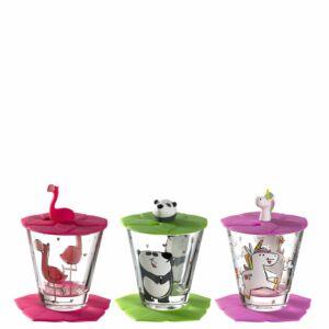 Leonardo Bambini pohár szett 9részes, Flamingó, Panda, Unikornis