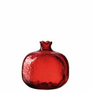 Leonardo Decora gránátalma alakú váza 10cm, piros