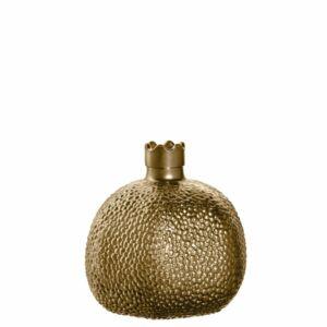 Leonardo Ornare gránátalma alakú váza 10cm, arany