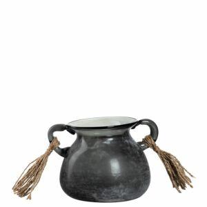 Leonardo Posto váza 12cm, antracitszürke