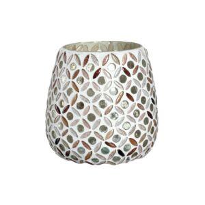 Leonardo Calmo Mosaik mécsestartó 10cm